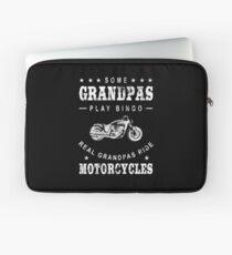 Some Grandpas Play Bingo Real Grandpas Ride Motorcycles - Cool Motorcycle Graphic Laptop Sleeve