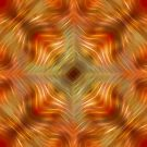 Sultan Silks Red Gold Ammolite I by Ray Warren
