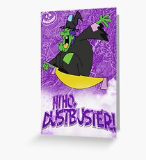 Halloween Poster 2009 - Hi Ho Dustbuster Greeting Card