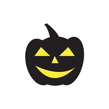 Halloween Pumpkin Black Yellow by MartinV96