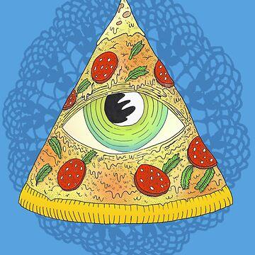 Pizza Illuminati by MUMtees