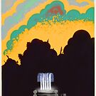 """H.P. Lovecraft Travel Poster: Arkham Water (""""The Colour Out of Space"""") by futurilla"""