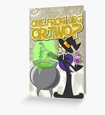 Halloween Poster 2009 - One Frog Leg or Two Greeting Card