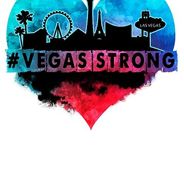 Vegas Strong Nevada Proud Heart T-Shirt by danny911