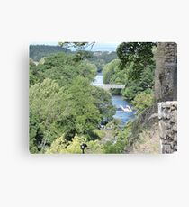 River View From Barnard Castle  Canvas Print