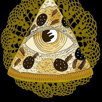 Golden Pizza Illuminati by MUMtees