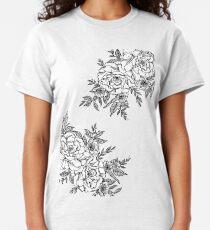 Flowers - Black & White Classic T-Shirt