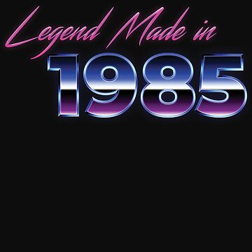 Retro 80s Shirt Born in 1985 Vintage Birthday Gift by normaltshirts