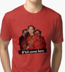 Cardi B - Nicki Feud come here censored Tri-blend T-Shirt