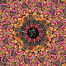 Pug Yoga Mandala by Huebucket
