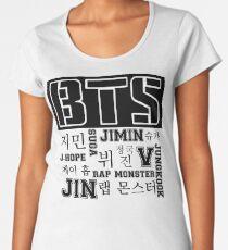 BTS! Premium Rundhals-Shirt