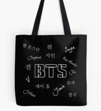 BTS-Gruppe (Schwarz) Tote Bag