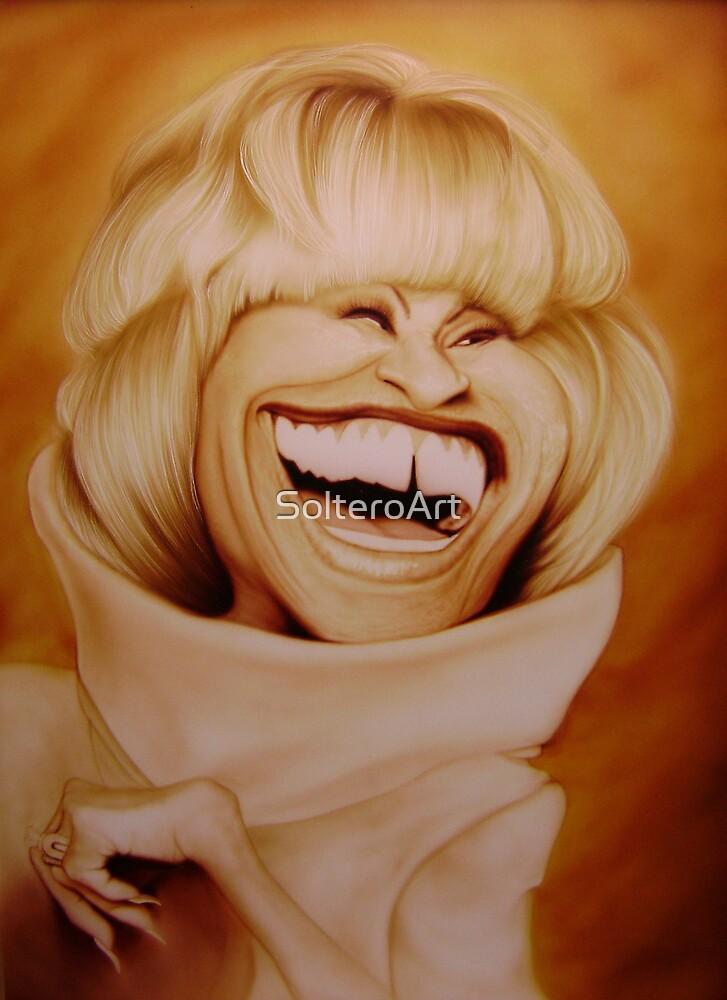 Celia Cruz Caricature by SolteroArt
