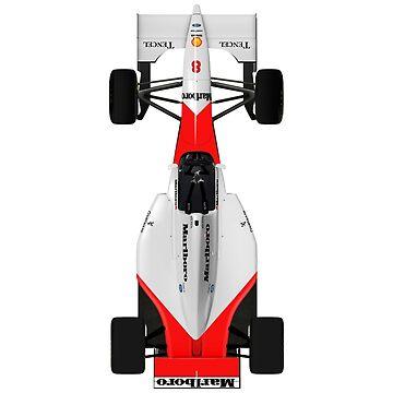 Formula 1 - Ayrton Senna - McLaren MP4/8 - Top down view by JageOwen