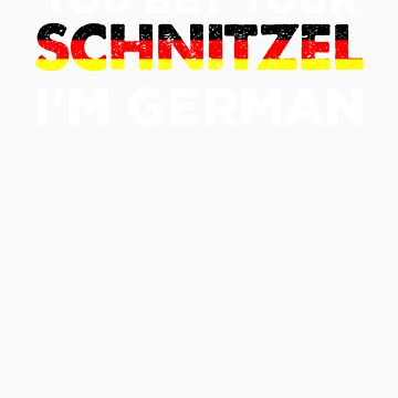 You Bet Your Schnitzel I'm German   Funny National Dish Saying Patriotic Gift Idea by orangepieces