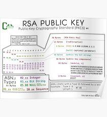 Public RSA Key Poster