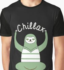 Chilling With Lemur Chillax Great Fashion T-Shirt Graphic T-Shirt