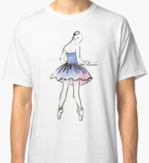 ballerina figure, watercolor illustration Classic T-Shirt