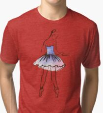 ballerina figure, watercolor illustration Tri-blend T-Shirt