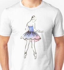ballerina figure, watercolor illustration T-Shirt
