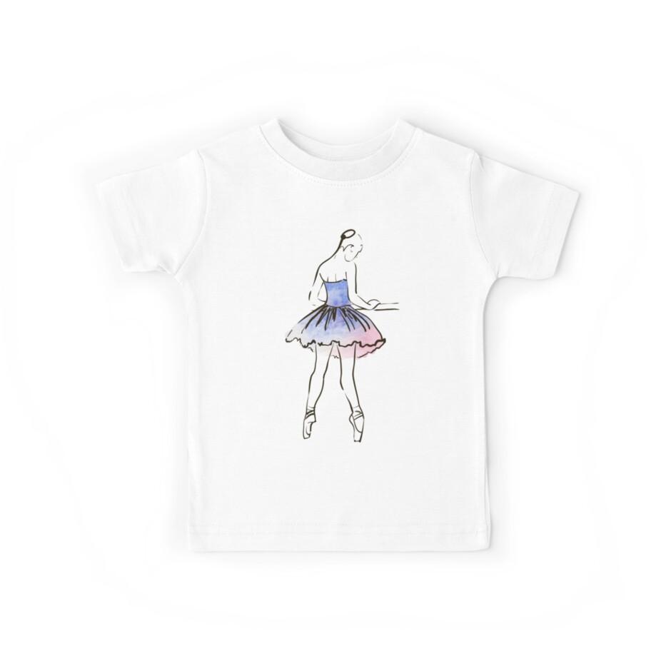 ballerina figure, watercolor illustration by OlgaBerlet