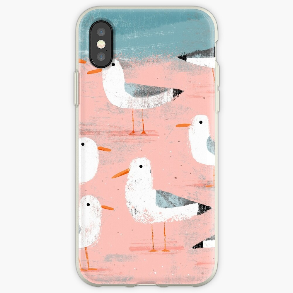 Seagulls on the Shore iPhone Cases & Covers