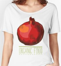 hand drawn vintage illustration of pomergranate Women's Relaxed Fit T-Shirt