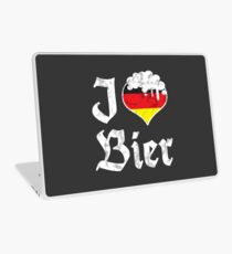 Vintage I Love German Bier Beer Lovers Gift Laptop Skin