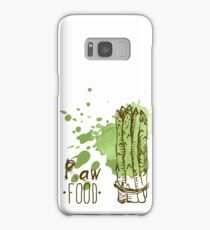 hand drawn vintage illustration of asparagus Samsung Galaxy Case/Skin