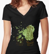 hand drawn vintage illustration of asparagus Women's Fitted V-Neck T-Shirt