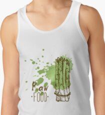 hand drawn vintage illustration of asparagus Tank Top