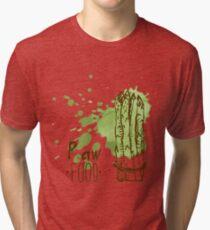 hand drawn vintage illustration of asparagus Tri-blend T-Shirt