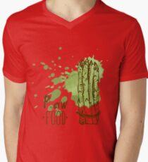 hand drawn vintage illustration of asparagus Mens V-Neck T-Shirt