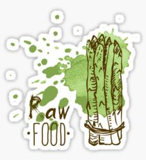 hand drawn vintage illustration of asparagus Sticker