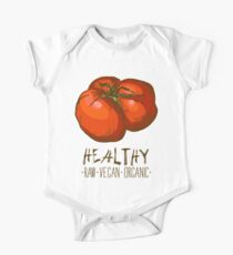hand drawn vintage illustration of tomato One Piece - Short Sleeve