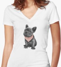 Parlez-vous frenchie Fitted V-Neck T-Shirt