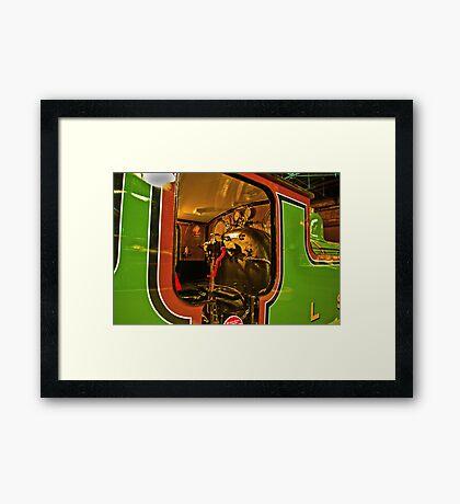 Inside The Cab #2 (Steam Train) Framed Print