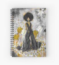 Der Queen Black and Gold Spiral Notebook