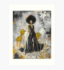 Der Queen Black and Gold Art Print