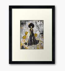 Der Queen Black and Gold Framed Print