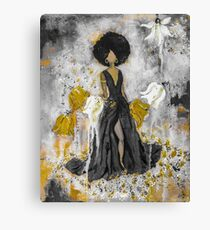 Der Queen Black and Gold Canvas Print