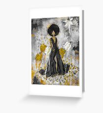 Der Queen Black and Gold Greeting Card