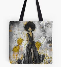 Der Queen Black and Gold Tote Bag