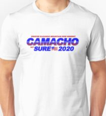 CAMACHO / not SURE - 2020 for Presidential - Idiocracy Party Unisex T-Shirt