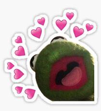 Kermit heart Meme Sticker