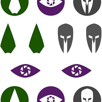 Original Team Arrow Hero Symbols Sticker Sheet by FangirlFuel