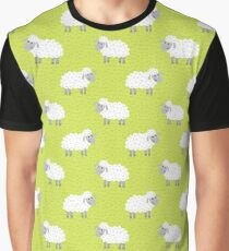 Count the sheep (Green) Graphic T-Shirt