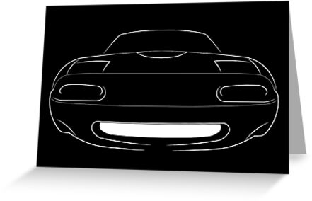 Mazda Miata MX-5 NA - front stencil, white by mal-photography
