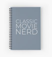 Classic Movie Nerd (Light Text) Spiral Notebook