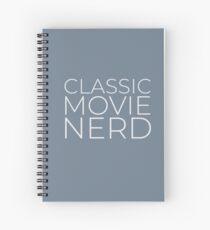 Classic Movie Nerd (Light Text) Spiral Notebook